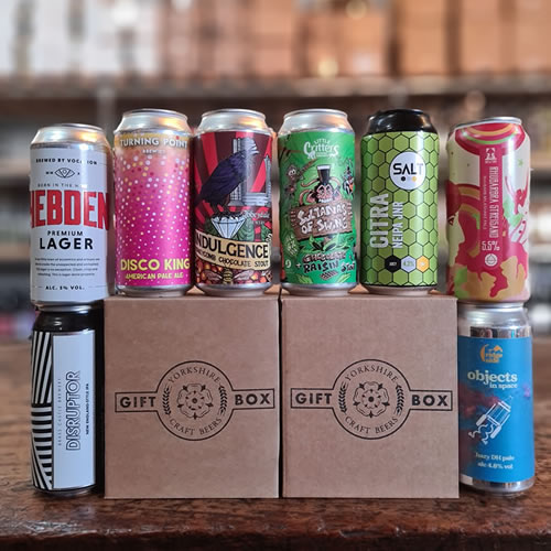 Discovery box with a selection of different craft beer styles