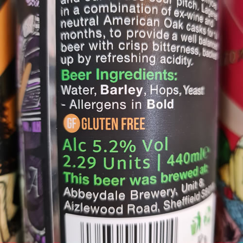 A can of gluten free craft beer with GF displayed on the label